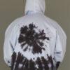 Tie Dye Zip Front Fleece Hoodie - Serenity Blue Back by Blue Lotus Yogawear