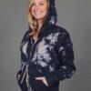Tie Dye Zip Front Fleece Hoodie - Clay/Black by Blue Lotus Yogawear