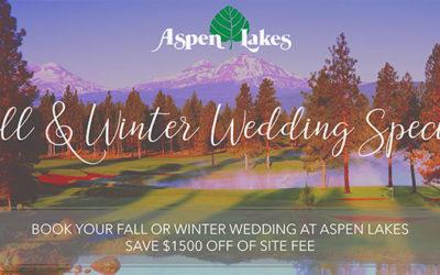 Aspen Lakes Wedding Special – Central Oregon Wedding Venue – Sisters, Oregon