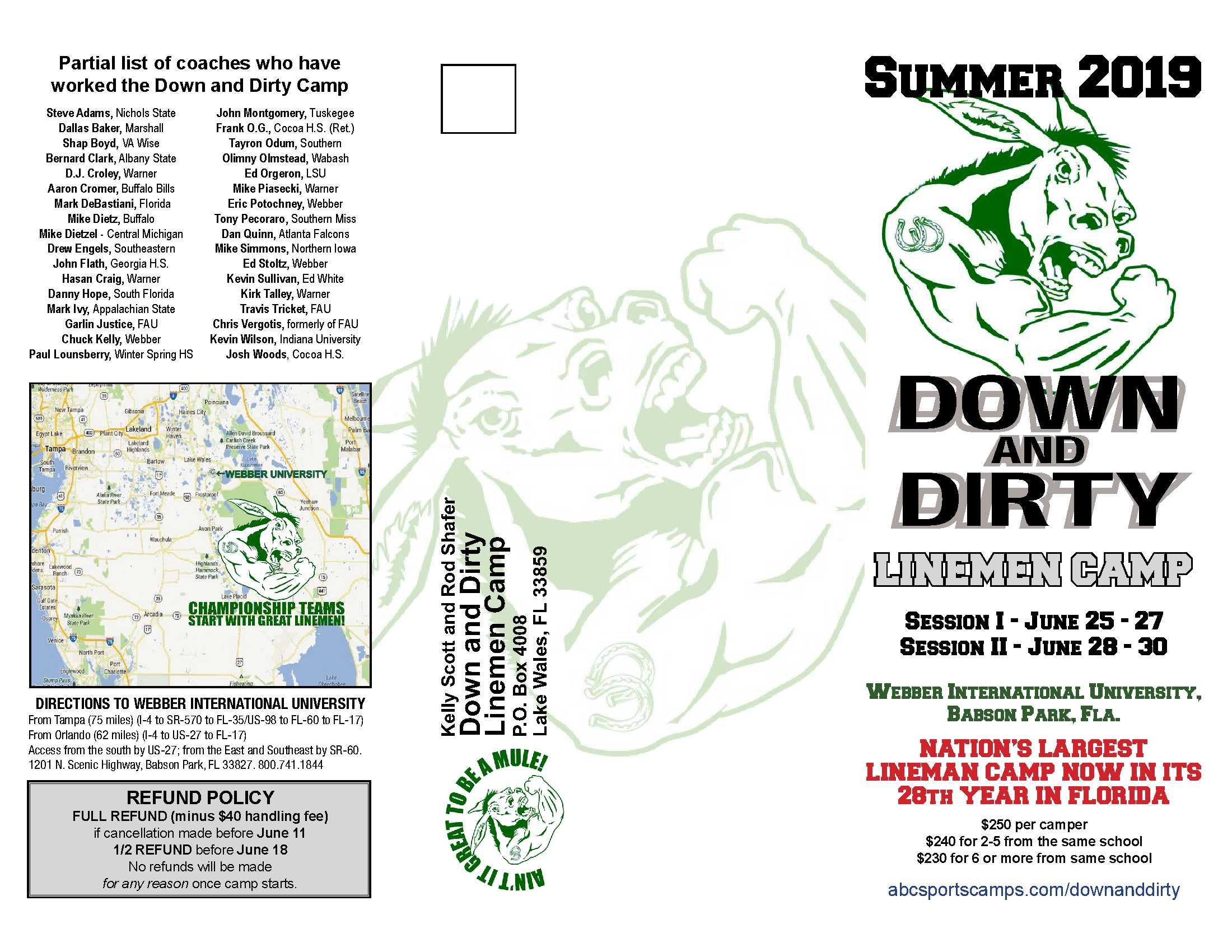 Down-and-Dirty Lineman Camp 2019