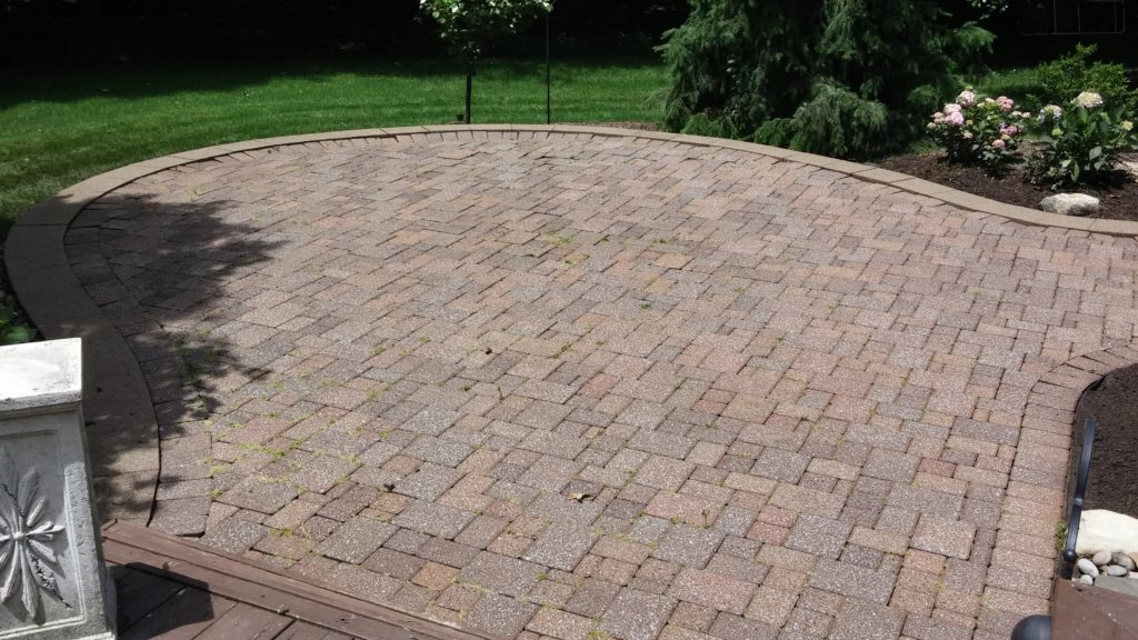 After - North Olmsted Rear Patio Pressure Washing