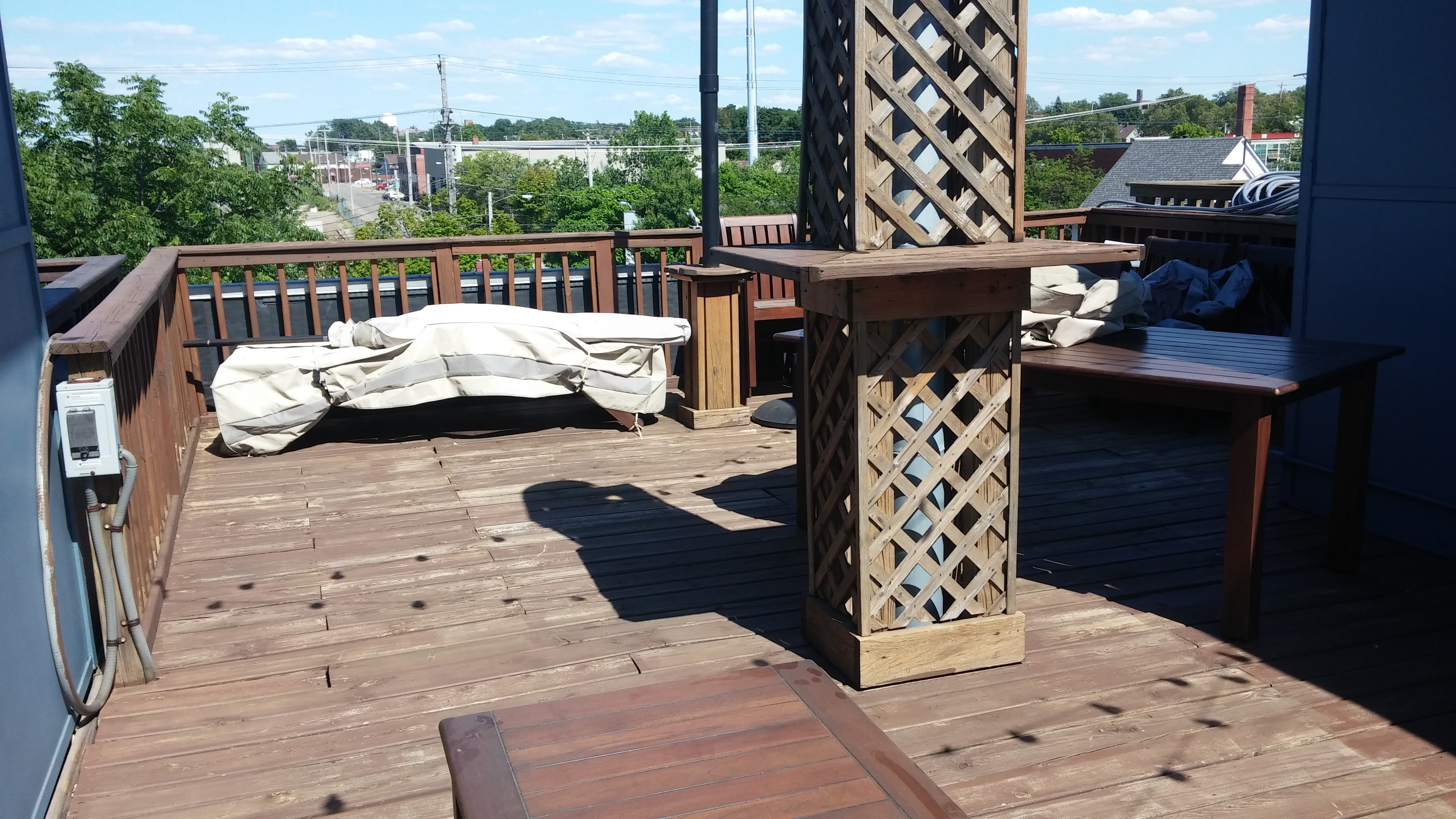 Before Picture - Cleveland Rooftop Deck Pressure Washing