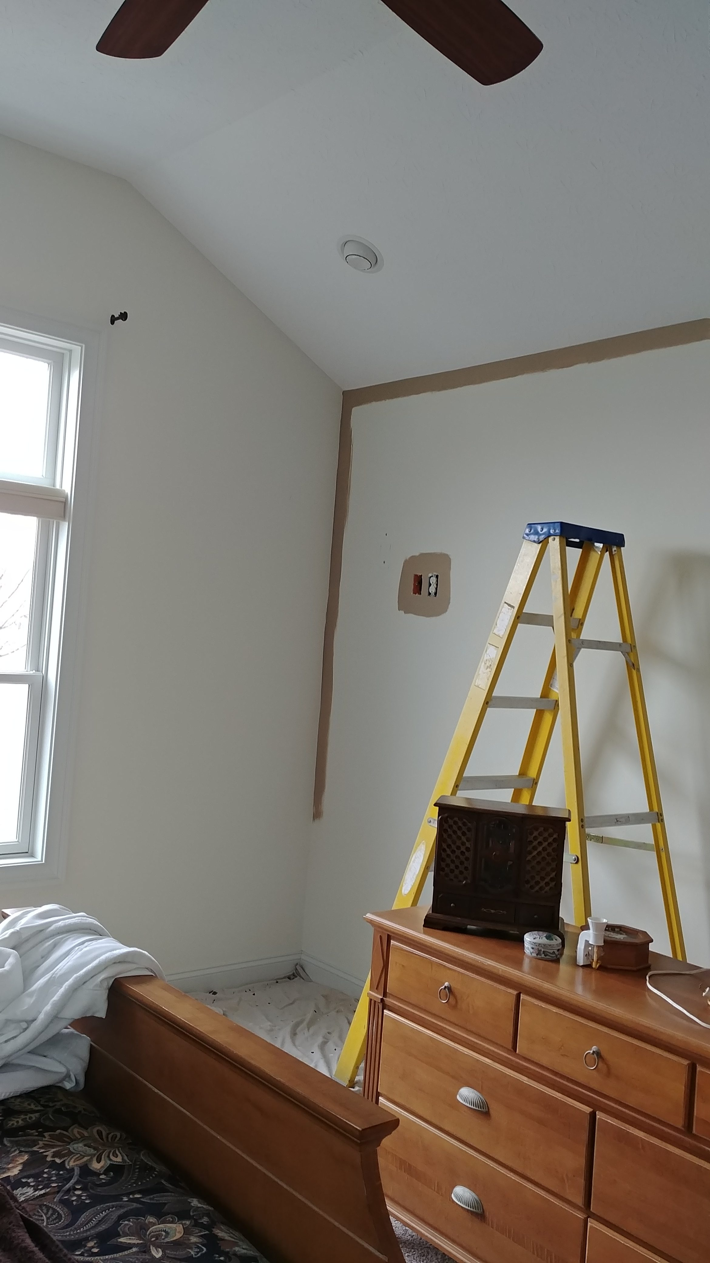 During - Interior Painting of a Bedroom in Eaton Township