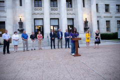 August 31, 2021: State Senators John Kane and Tim Kearney hosted an Overdose Awareness Day Vigil to honor lives lost to overdoses.