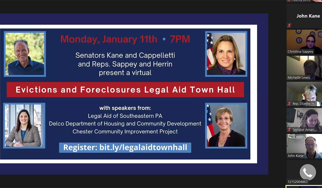 Senators Kane and Cappelletti and Reps. Herrin and Sappey Host Virtual Town Hall on Evictions and Foreclosures