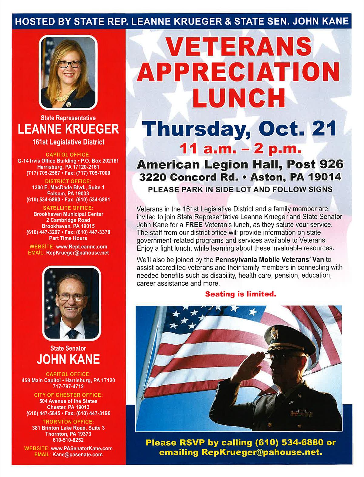 Veterans Appreciation Lunch - October 21, 2021