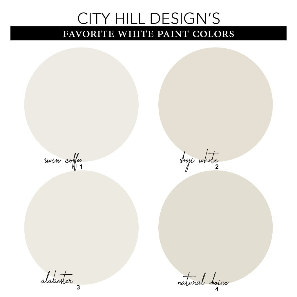 White Paint Color Samples