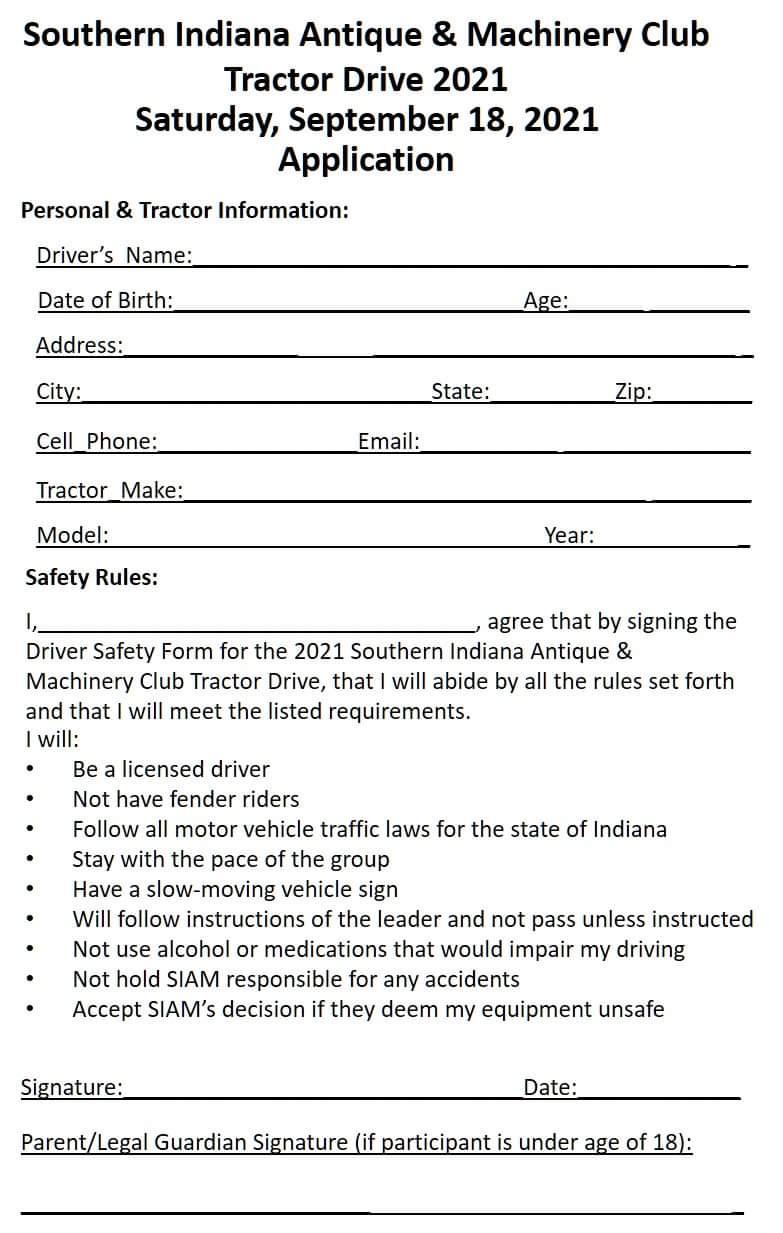 SIAM Tractor Drive Application 2021