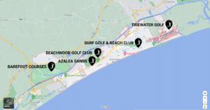 north myrtle beach golf course map