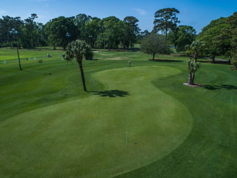 Practice green at Beachwood Golf Club of north myrtle beach golf courses