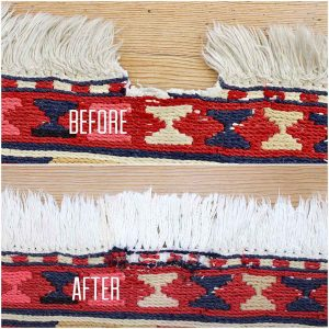 rug repair before and after