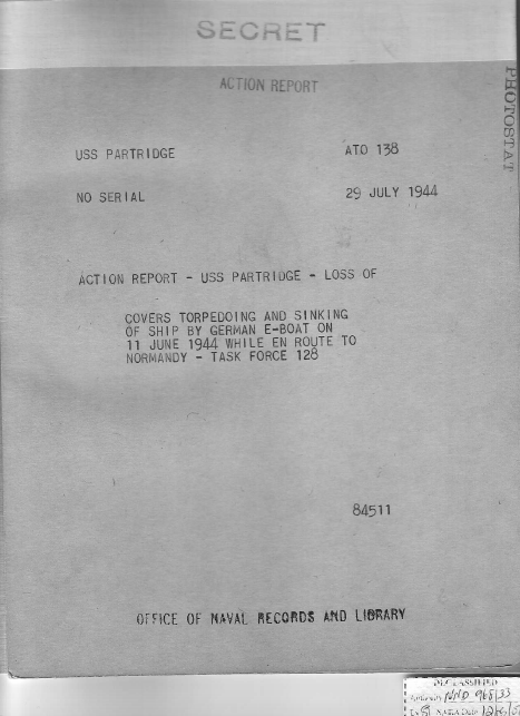 Action Report: Partridge Sinks