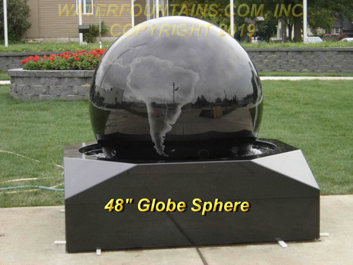 GRANITE SPHERE BALL WATER FOUNTAIN - 038