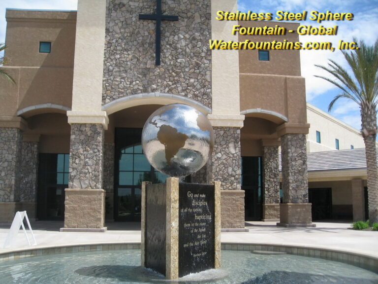 Main 006 Stainless Steel Sphere Fountain
