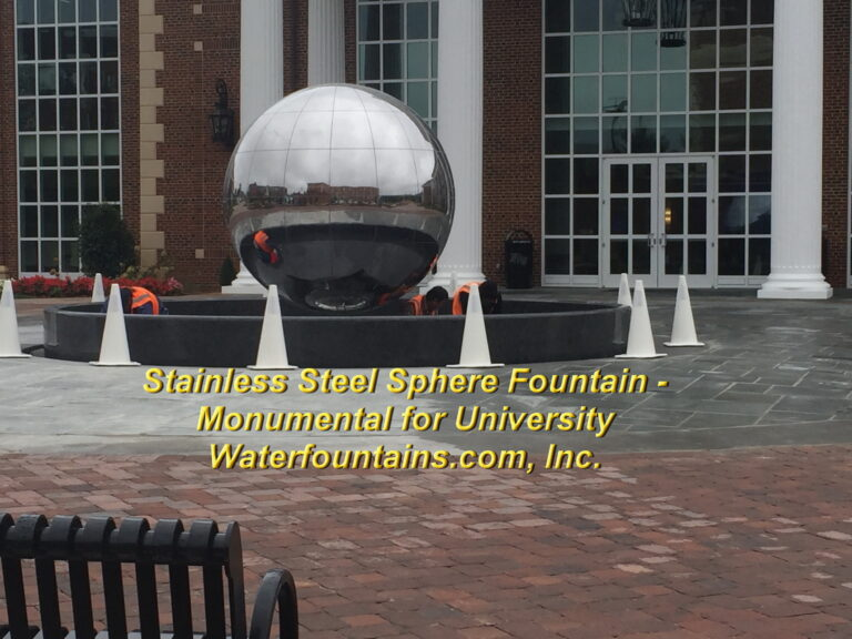 Main 014 Stainless Steel Sphere Fountain