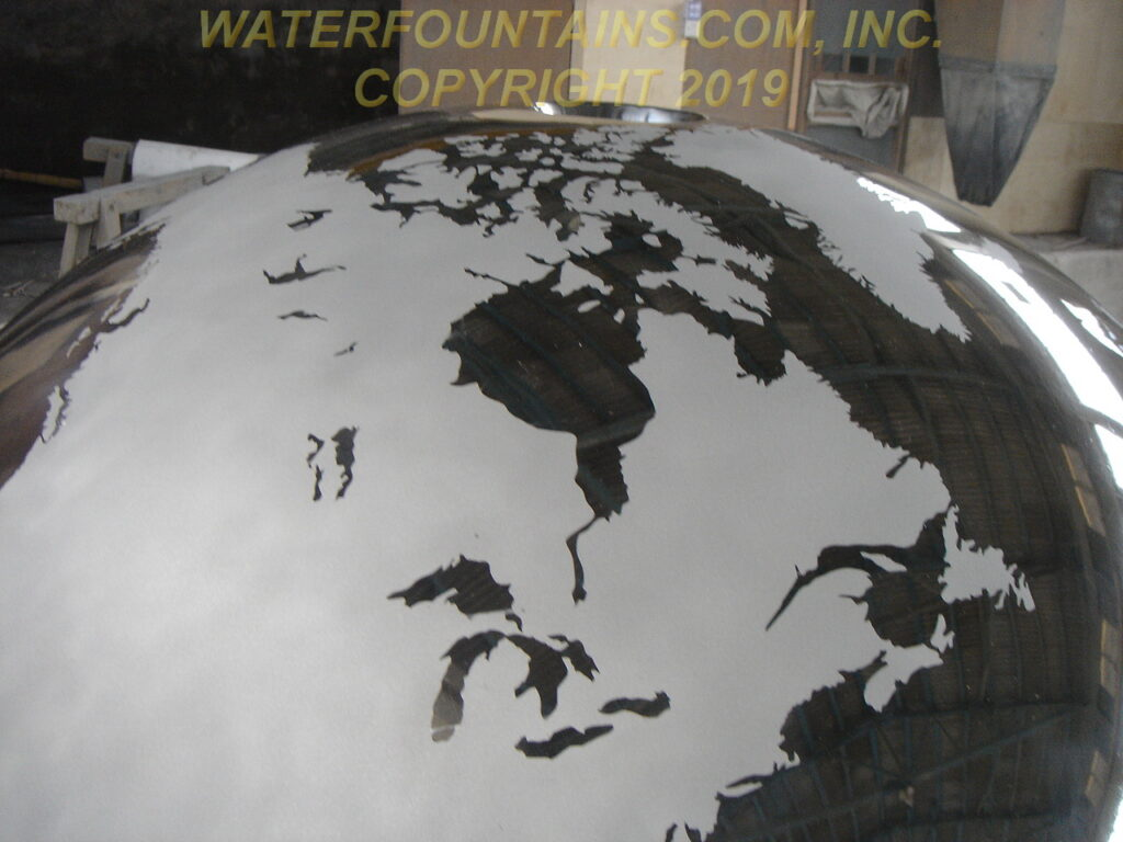 STAINLESS STEEL SPHERE BALL FOUNTAIN - 002