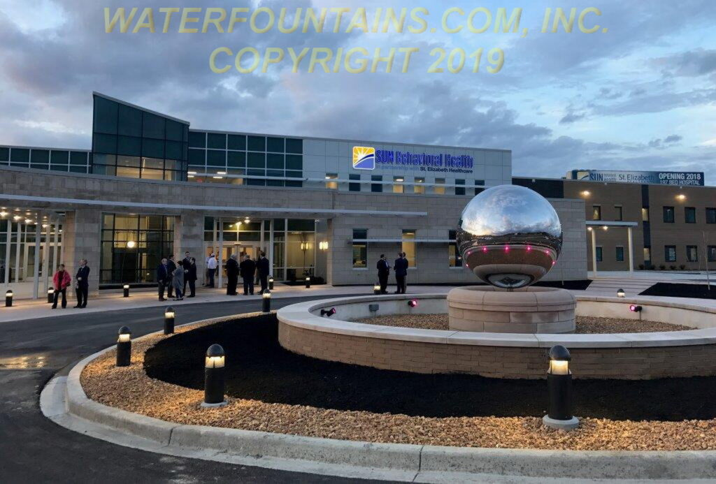 STAINLESS STEEL SPHERE BALL FOUNTAIN - 011