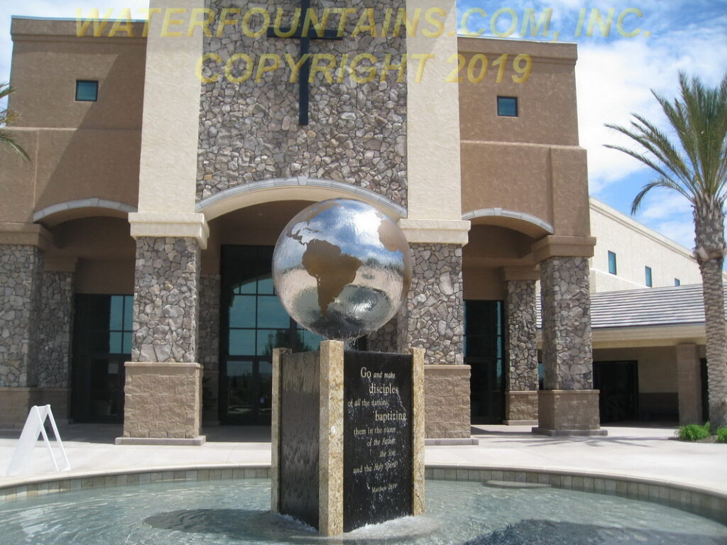 STAINLESS STEEL SPHERE BALL FOUNTAIN - 018