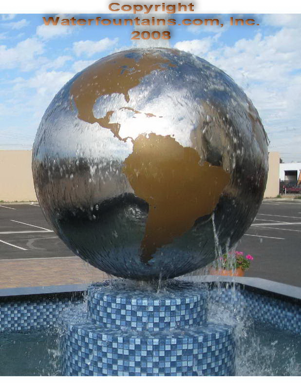 STAINLESS STEEL SPHERE BALL FOUNTAIN - 021