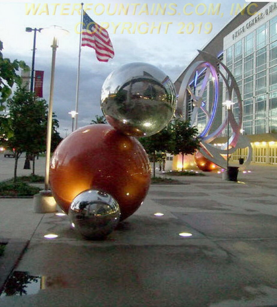 STAINLESS STEEL SPHERE BALL FOUNTAIN - 034