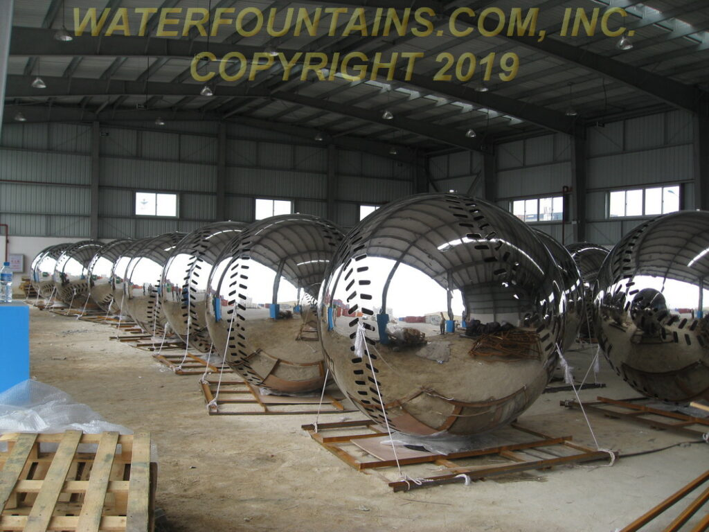 STAINLESS STEEL SPHERE BALL FOUNTAIN - 043