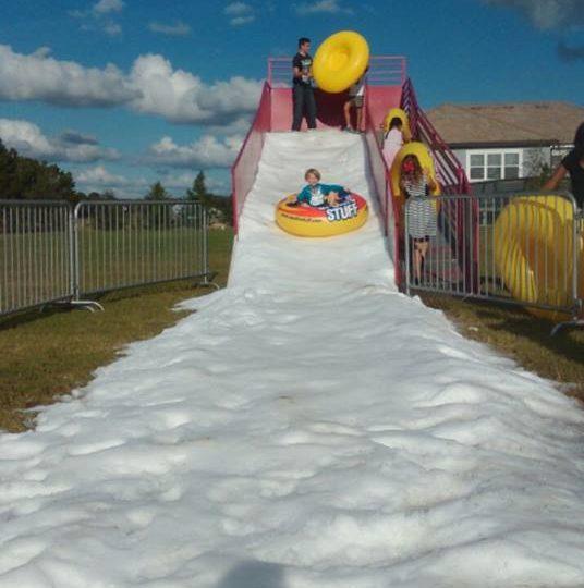 Real Snow Slide