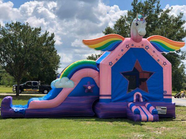 Unicorn Bounce House and Slide