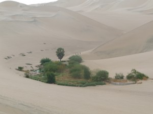 Huacachina in zuid Peru