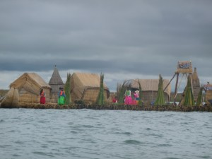 Lake Titicaca riet eilanden