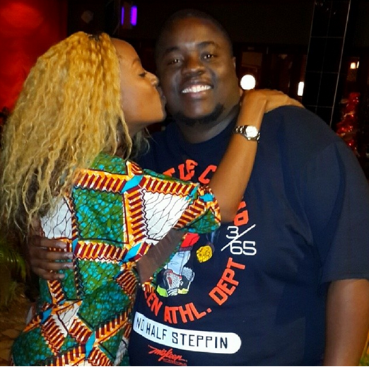 Wicknell with Makosi