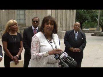 SB6 Press Conference outside Houston City Hall