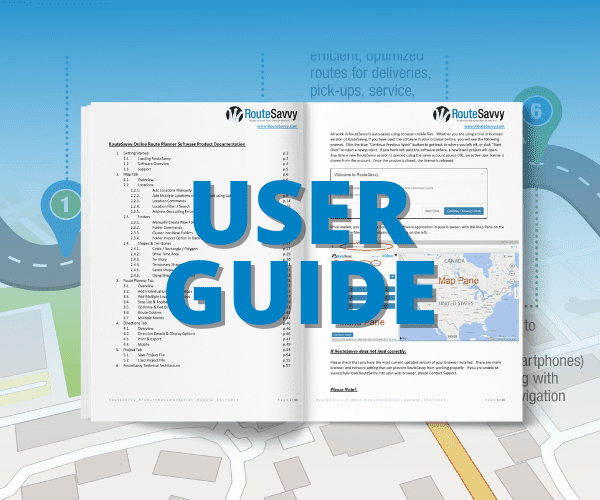 RouteSavvy User Guide | RouteSavvy.com | OnTerra Systems