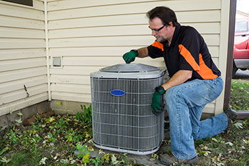 Air conditioning installation demonstration.