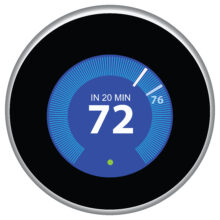 A wifi thermostat from Nest.