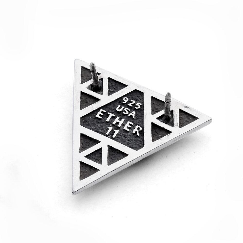 Ether11 Silver Sierpinski's Eye Pin