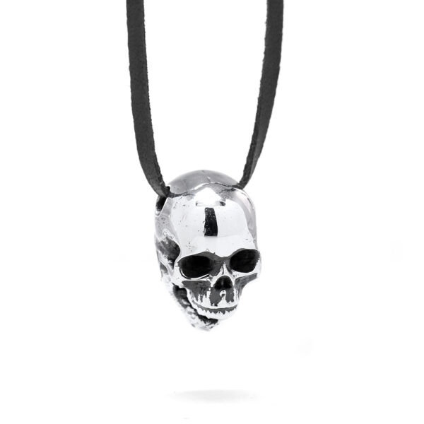 Ether11 Silver Screaming Skull Pendant