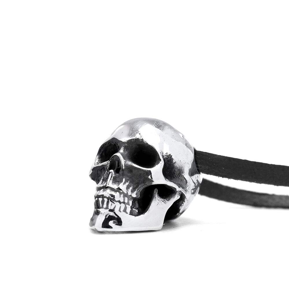 Ether11 Silver Guardian Skull Pendant