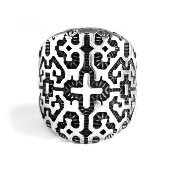 Ether11 Shipibo Geometric Pattern Ring