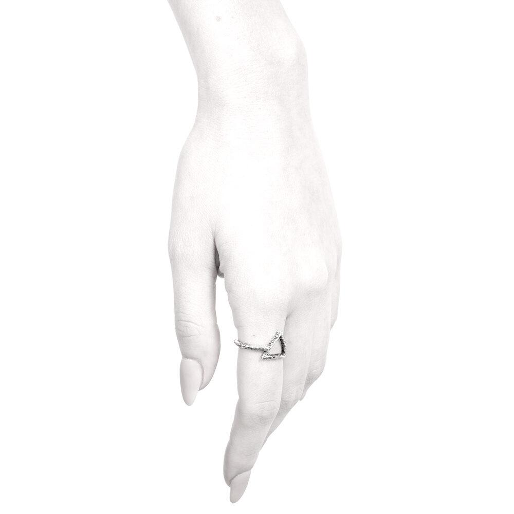 Ether11 Fire Symbol Alchemy Ring