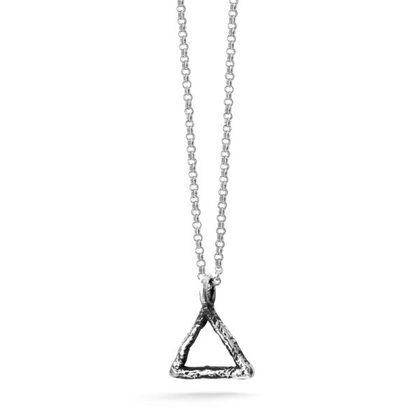 Ether11 Alchemy Symbol Fire Pendant Triangle Pyramid