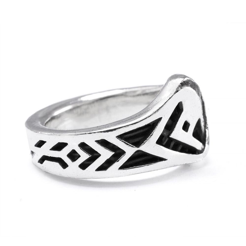 Ether11 Sterling Silver Balance Modern Ring