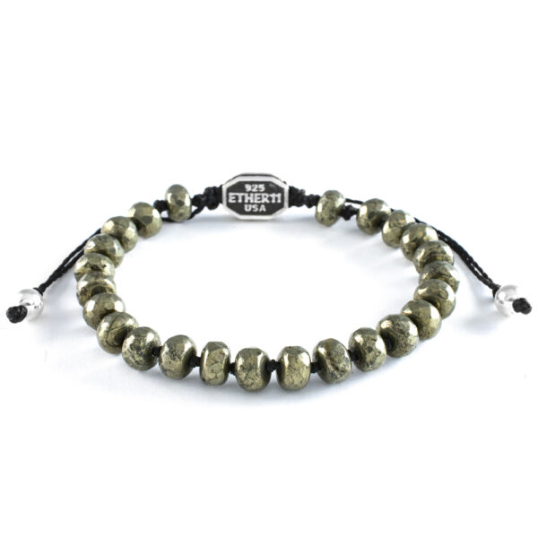 Ether 11 Faceted Pyrite Gemstone Bead Bracelet