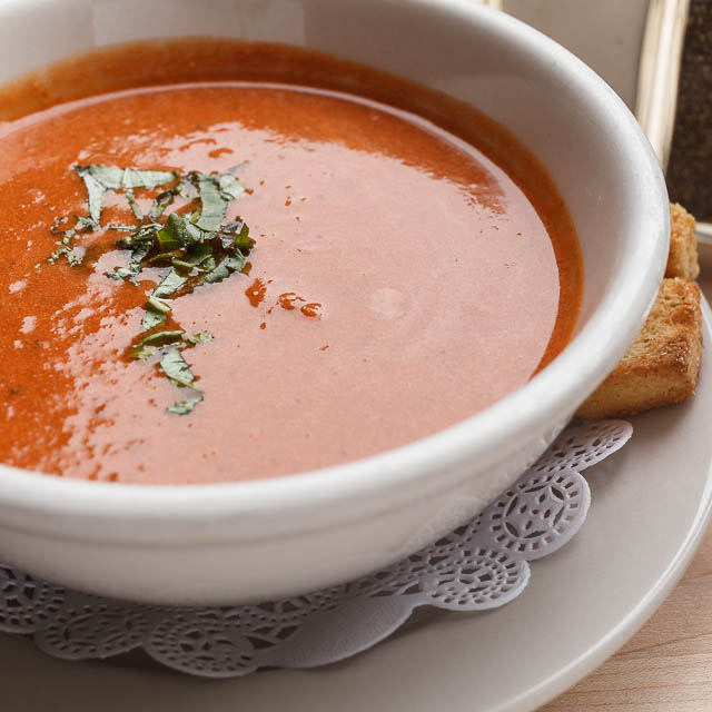 Louisiana Pizza Kitchen's Tomato & Basil Soup