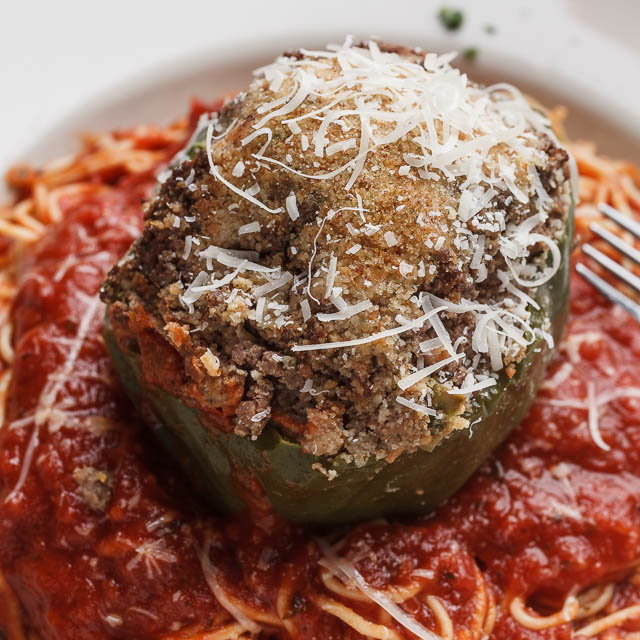 Louisiana Pizza Kitchen's Stuffed Bell Pepper Pasta