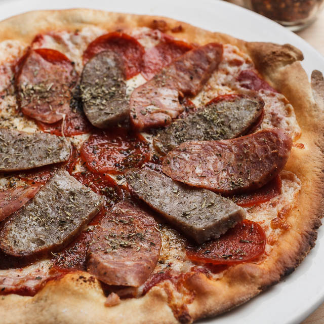 Louisiana Pizza Kitchen's Three Meat Pizza