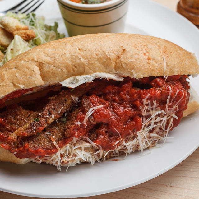 Louisiana Pizza Kitchen's Eggplant Parmesan Poboy