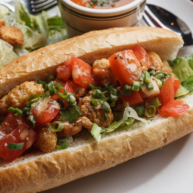 Louisiana Pizza Kitchen's Fried Oyster Poboy