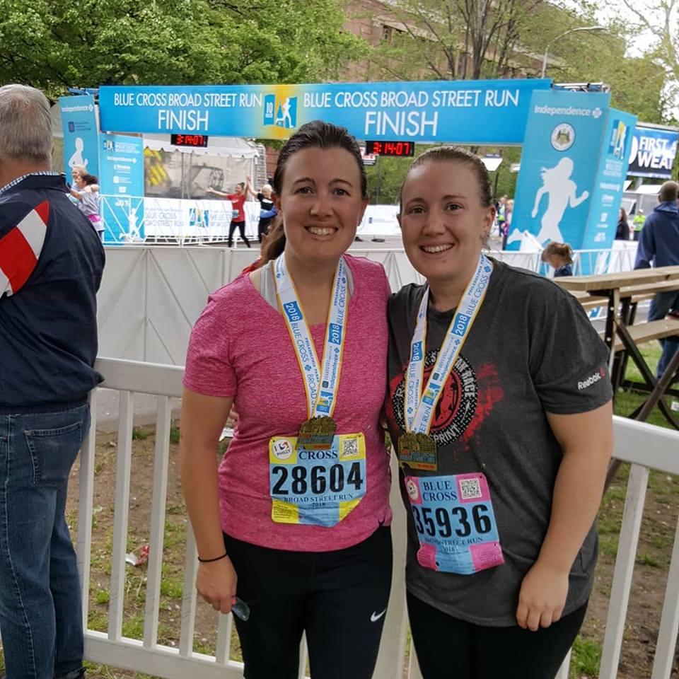 Sarah and Kate Broad St 2018