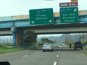 Road sign to Utuado