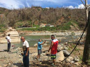 collapsed bridge at Chorreras